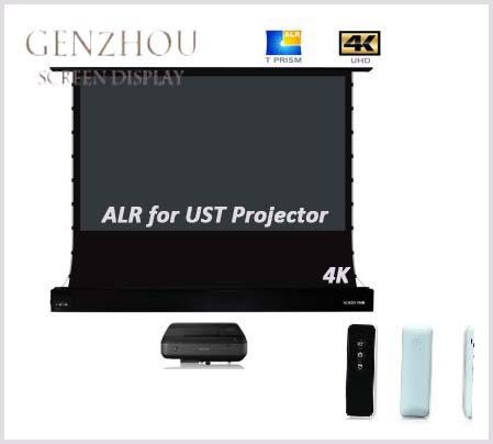 4K ALR Floor Electric Tensioned Screen for ultra short throw projector