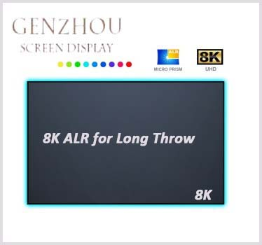 8K Long Throw ALR Frame Projection Screen