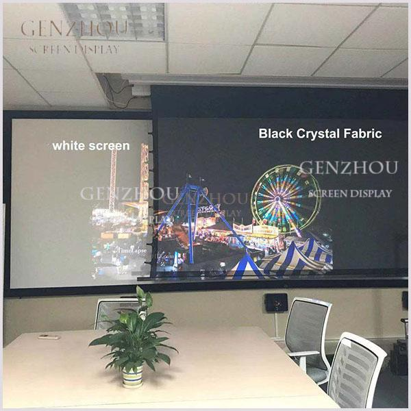 Long Throw ALR  Black Crystal Motorized Screen (LongThrow  Ambient Light Rejecting Fabric Black Crystal)