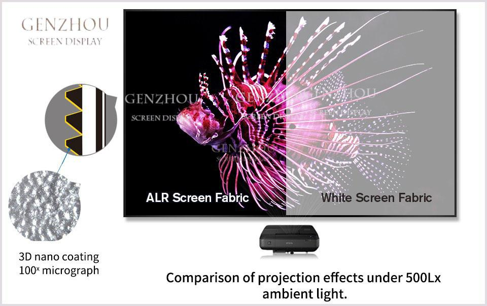 Long Throw ALR Black Crystal Frame Screen ( LongThrow Ambient Light Rejecting Fabric Black Crystal HG)