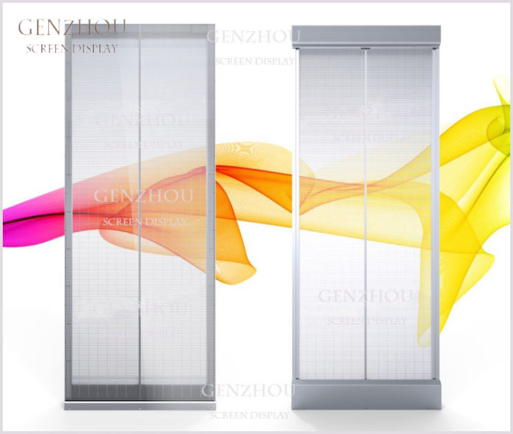 G-NS Series Transparent LED Display be used directly as glass walls