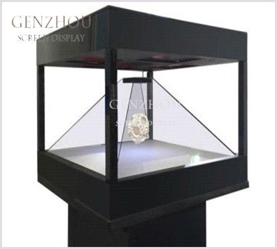 360 degree 3D Hologram Showcase Holographic Pyramid Box
