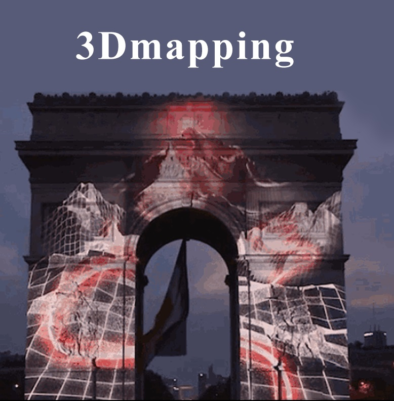 Holographic naked eye 3D mapping