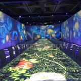 Holographic flower Immersive projection